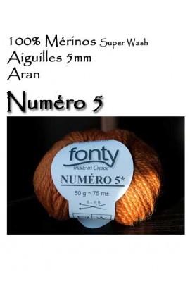 Numéro 5 by Fonty - 100% Mérinos Super Wash