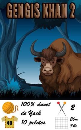 Laine Gengis Khan 2 | FONTY - 100% duvet de Yak