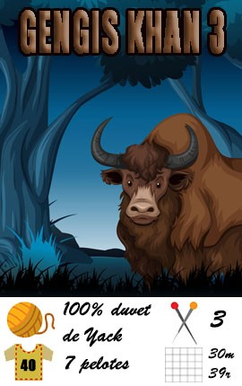 Laine Gengis Khan 3 | FONTY - 100% duvet de Yack