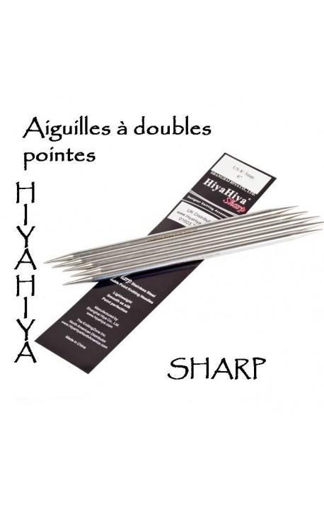 Aiguilles à doubles pointes Sharp Hiya Hiya