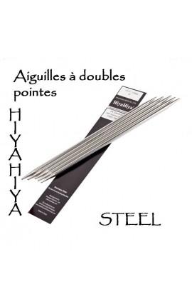 Aiguilles à doubles pointes métal Hiya Hiya