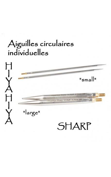 Aiguilles HiyaHiya à bouts pointus (sharp)