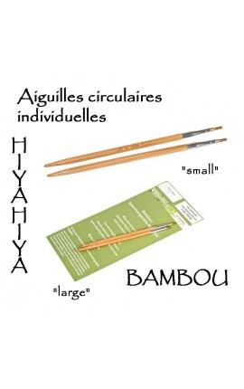 Aiguilles HiyaHiya en bambou