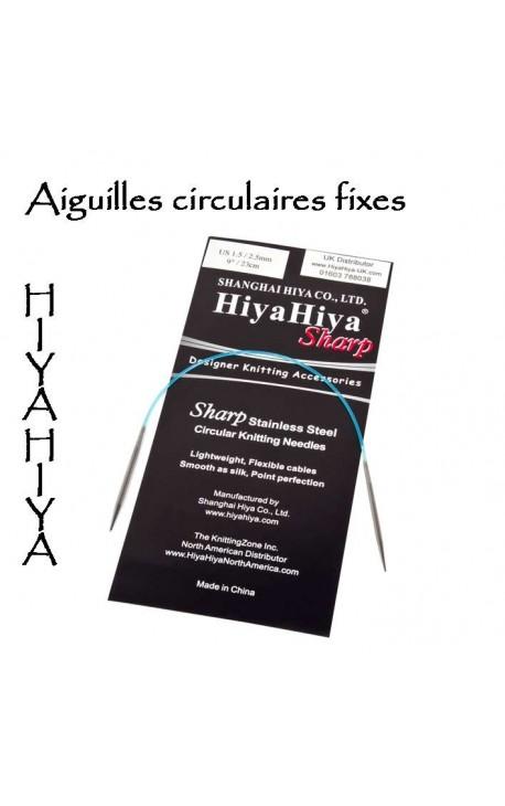 Aiguilles circulaires Fixes HiyaHiya à bouts pointus (sharp)
