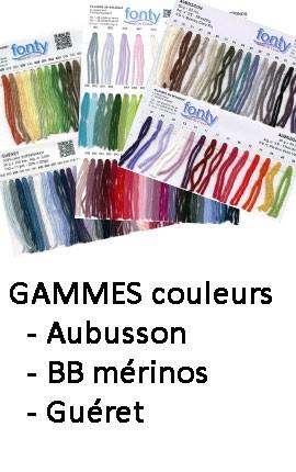 Gammes couleurs Fonty