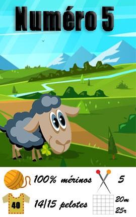 Numero 5 Fonty - 100% laine mouton