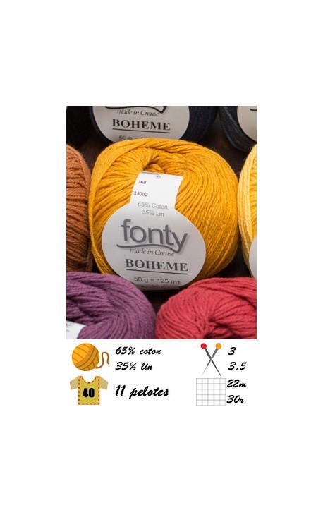 Bohème - coton et lin - laine fonty