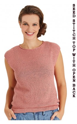 SEED STITCH TOP WITH OPEN BACK